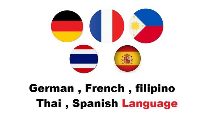German French Filipino Thai Spanish OC2x