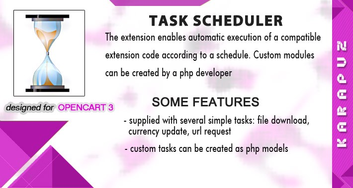 Task Scheduler (for Opencart 3)