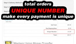 Unique (Random) Number - Order Totals