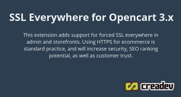 Opencart 3 Force SSL Everywhere + Full Site HTTPS