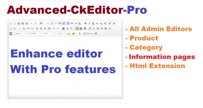 Advanced CKeditor Pro OC3x