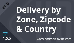 Delivery by State/Zone,  Zipcode and Country