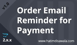 Order Email Reminder for Payment v.2.x.x