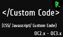Custom Code (CSS, Javascript, Custom Code)
