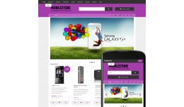 OpenCart 3 Theme Avenue Mobile Lilac
