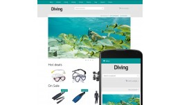 OpenCart 3 Theme River Diving Azure