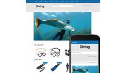 OpenCart 3 Theme River Diving Marine