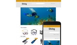 OpenCart 3 Theme River Diving Ochre
