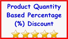 Product Quantity Based Percentage Discount