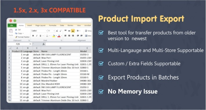 Product Import Export Tool
