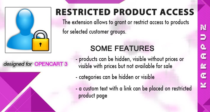 Restricted Product Access (for Opencart 3)
