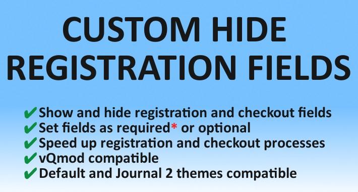 Custom Hide Registration Fields