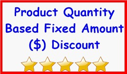Product Quantity Based Fixed Amount Discount