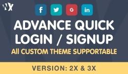 Advance Quick Login / Sign Up