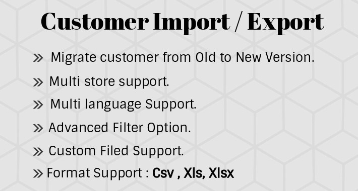 Customer Import Export OC3x