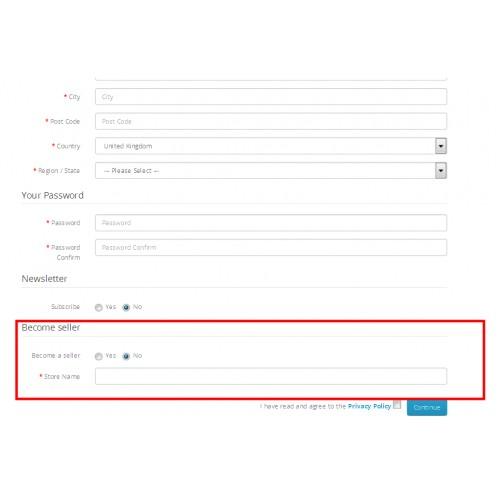 OpenCart - Multi Vendor / Multi Seller Marketplace