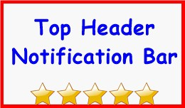 Top Header Notification Bar