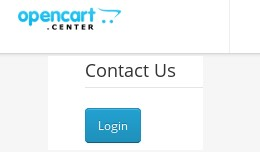Contact form - Customer login