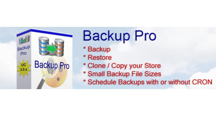 Backup Pro For Opencart 3.0.x