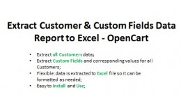 Extract Customer&Custom Fields Report to Excel