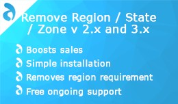 Remove Region / State / Zone v 2.x and 3.x