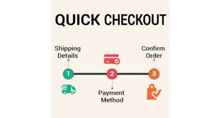 Quick Checkout(Less Steps)