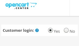 Customer login - Access to shop only after login