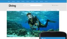 OpenCart 3 Theme River Diving Cyan