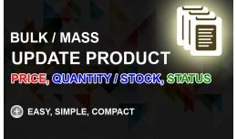 Bulk Update Product Price, Quantity (Stock), Sta..