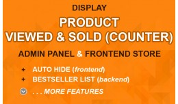 Display Product Viewed & Sold Counter