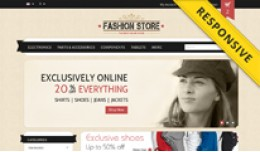 Fashion Store OpenCart Template - OPC050101