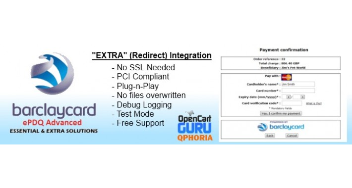 Barclay ePDQ Essential & Extra (1.5.x/2.x/3.0)