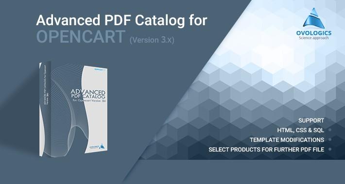 Advanced PDF Catalog for OpenCart (for v. 3.x)