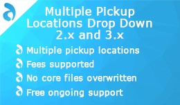 Multiple Pickup Locations Drop Down 2.x and 3.x