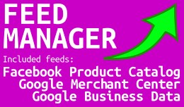 Feed Manager Pro (Facebook & 2 Google feeds)