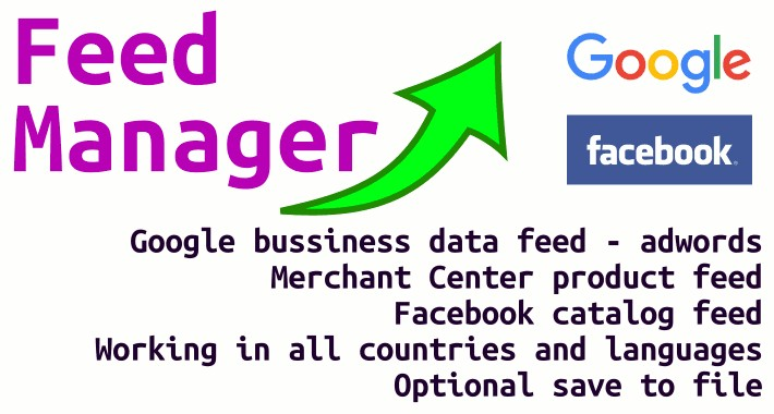 OpenCart - Feed Manager (Facebook & Google feeds - 3 feeds)
