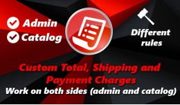Custom Total, Shipping and Payment Charges 2x