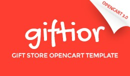 Gifts Store Responsive OpenCart Template 65049