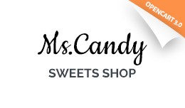 Sweet Shop Responsive OpenCart Template 64990