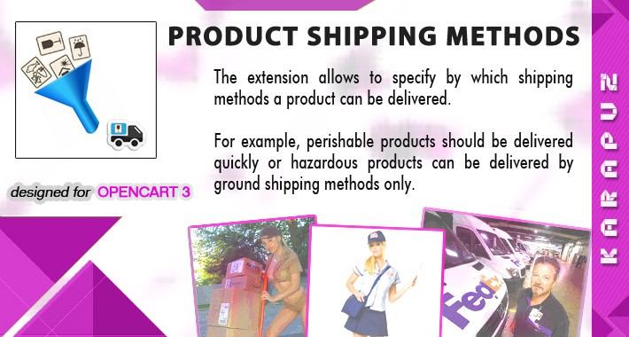 Product Shipping Methods (for Opencart 3)