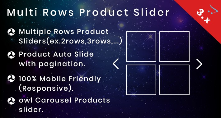 Multi Row product slider with Mobile Friendly(Responsive)