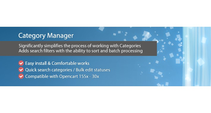 Category Manager - Admin Management & Filter Categories
