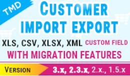 Customer import export  (1.5.x ,2.x & 3.x )