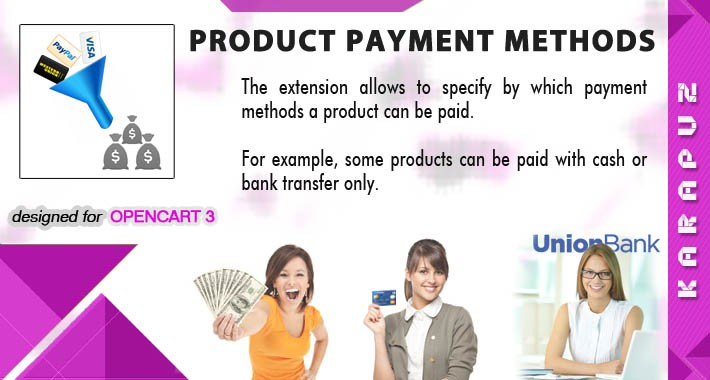 Product Payment Methods (for Opencart 3)