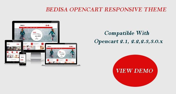 Bedisa Opencart Multi Purpose Opencart Responsive Theme