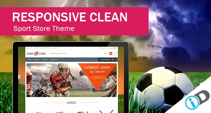 Attractive and Elegant Sport Accessories  StoreTemplate