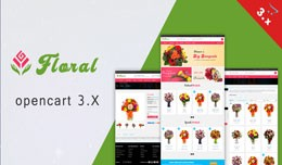 Floral Multipurpose Ecommerce Opencart 3.x Theme