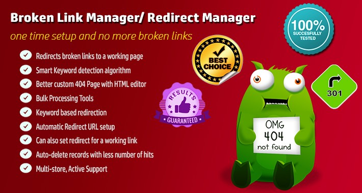 Broken Link Redirect Manager / Auto Redirect Manager