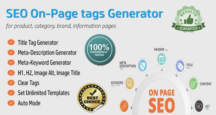 SEO On-Page Tags Bulk Generator - AUTOMATIC