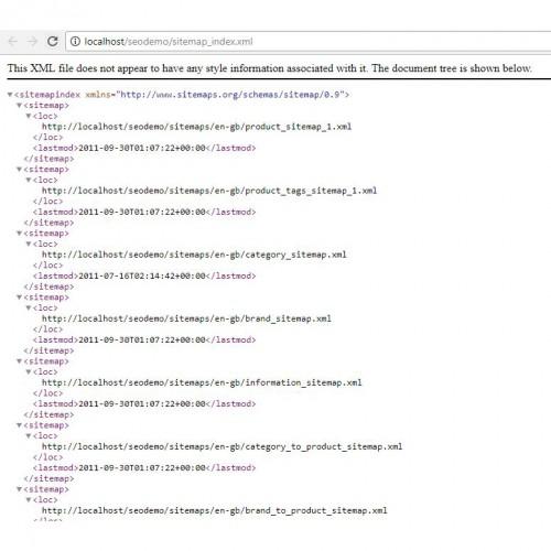 opencart seo xml sitemap generator unlimited links